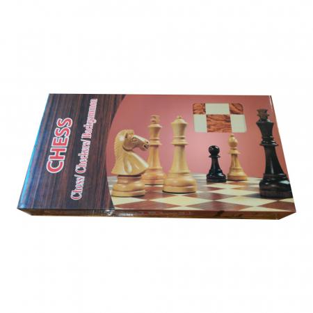 Joc de sah, table si dame- Vision, 33 x 33 cm, cutie si piese din lemn, cu toate piesele incluse [4]