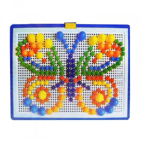 Joc mozaic Vision, cu pioneze de plastic multicolore [1]