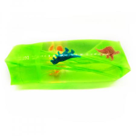 "Jucarie antistres distractiva ""Slippery Slime"", Vision, umpluta  cu slime gelatina moale si figurine, 12 cm [0]"