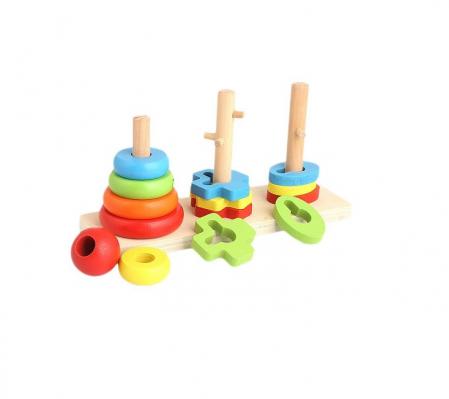 Jucarie educativa Vision, cu  trei turnuri cu piese de diferite culori [0]
