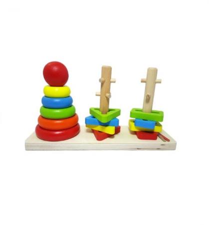 Jucarie educativa Vision, cu  trei turnuri cu piese de diferite culori [1]