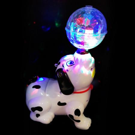 Jucarie interactiva Vision cu baterii, Catel cu minge care canta, lumineaza si se roteste [2]
