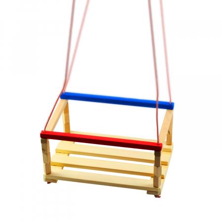 Leagan pentru copii din lemn, Vision, multicolor [0]