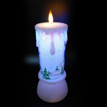 Lumanare Craciun cu led luminos, Vision, alb-21 cm [2]