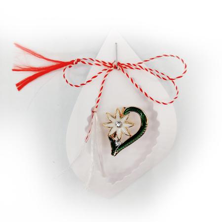 Martisor brosa Floare de colt - Vision, pe carton decupat [1]