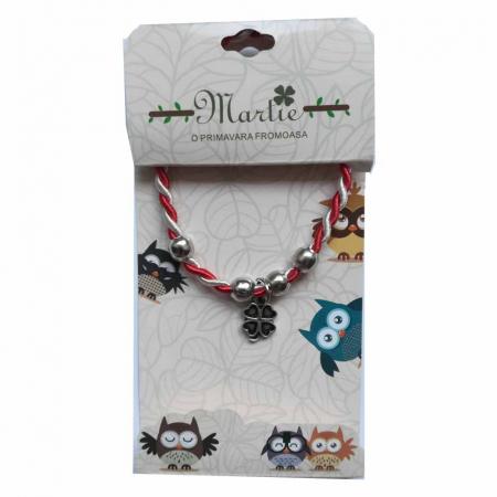 Martisor brosa pe carton negru catifea decupat -  flori de munte Vision [1]
