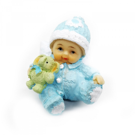 Marturie de botez Vision, bebelus baiat, albastru [0]