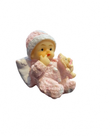 Marturie de botez Vision, bebelus fetita, roz [1]