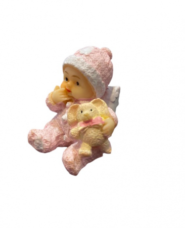 Marturie de botez Vision, bebelus fetita, roz [2]