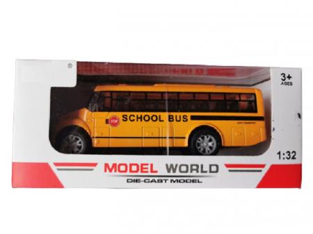 Masinuta de metal Vision, autobuz scolar, scara 1:32 [0]
