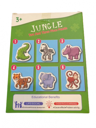 Pachet 6 puzzle Jungle- Vision cu doua sau trei piese mari 18x13 cm [1]