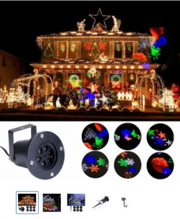 Proiector laser pentru exterior/interior Vision cu jocuri de lumini, Craciun, 230 V, 50 MHz [0]
