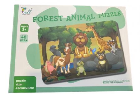 Puzzle cu  48 de piese, Forest Animal Puzzle- Vision 42 x 28 cm [0]