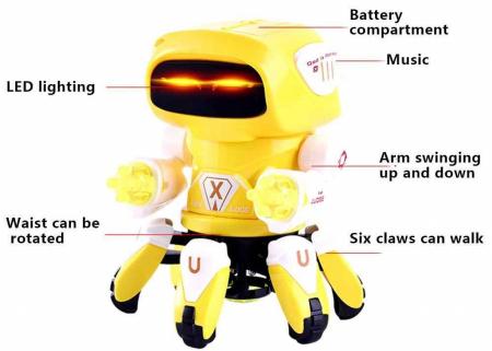 Robot Octopus Rockman danzeaza, lumineaza si canta Vision [4]