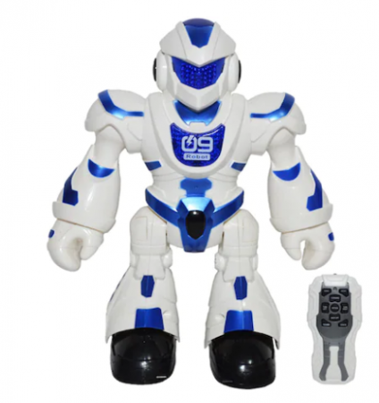 Robot Q9 cu telecomanda Vision emite sunete si lumini, danseaza, inaltime 24 cm, Robentoys [1]