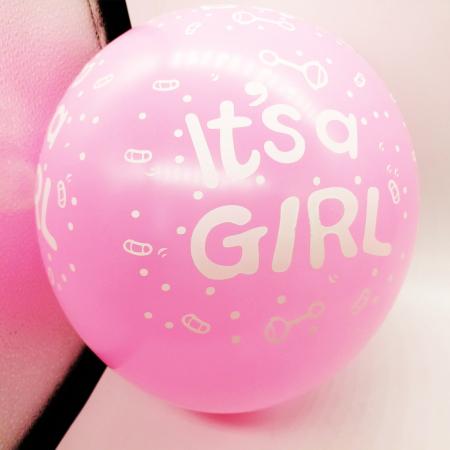 "Set 10 baloane Vision ""Este fetita!"", roz [1]"