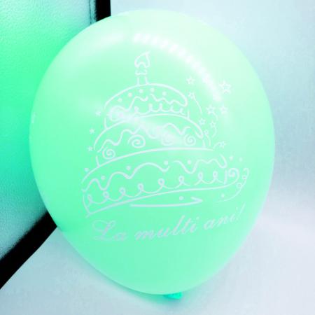"""Set 10 baloane Vision """"La multi ani!"""" cu imprimeu tort, multicolor [3]"""