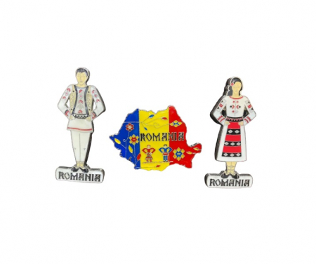 Set 3 magneti de frigider- Vision cu motive nationale romanesti [0]