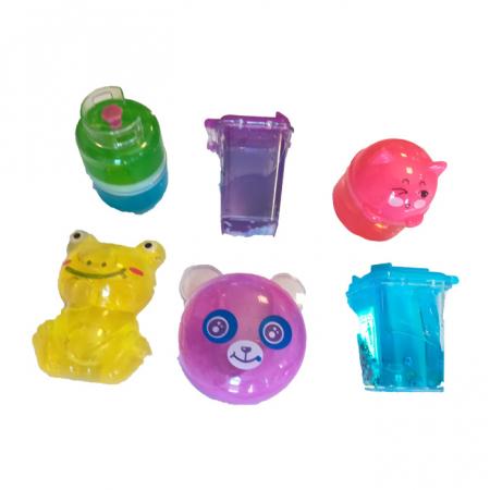 Set 6 slimeuri, diverse forme si culori, 6 cm, Vision [0]
