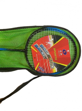 Set palete Badminton + 2 fluturasi Vision, in husa verde [1]
