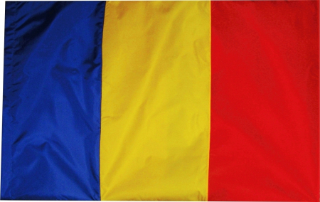 Steag Romania Vision poliester, format 90x150cm, pentru catarg [0]