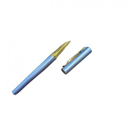 Stilou albastru Vision 2841, penita ascunsa, dual, rezervor si patron [1]