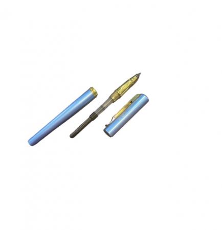 Stilou albastru Vision 2841, penita ascunsa, dual, rezervor si patron [2]