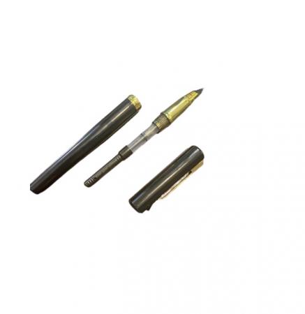 Stilou negru Vision 2841, penita ascunsa, dual, rezervor si patron [2]