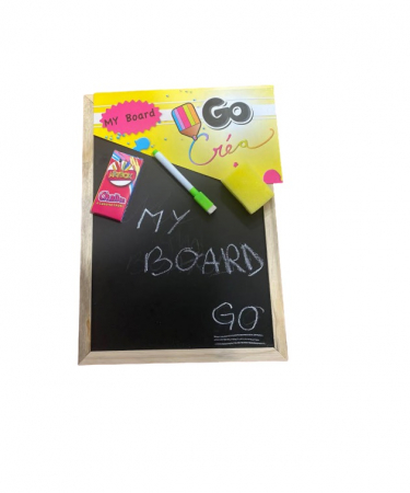 Tablita neagra Vision cu  creta, marker si  burete, doua fete [0]