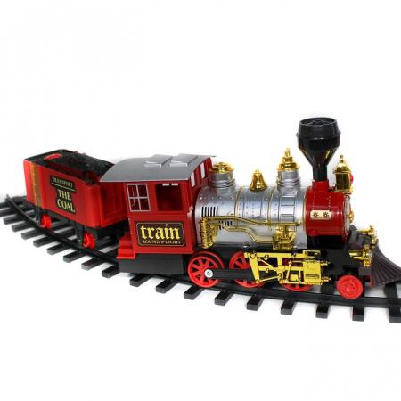 Tren cu radiocomanda Vision, locomotiva clasica cu aburi, vagon de carbuni [2]