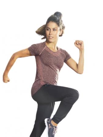 Tricou sport Vision, Damen Fitness-shirt, marimea S, mov [2]