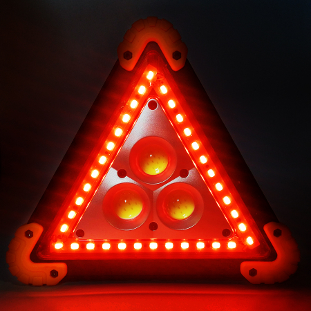 Triunghi reflectorizant Vision, lampa multifunctionala cu 3 faze LED de iluminare [2]