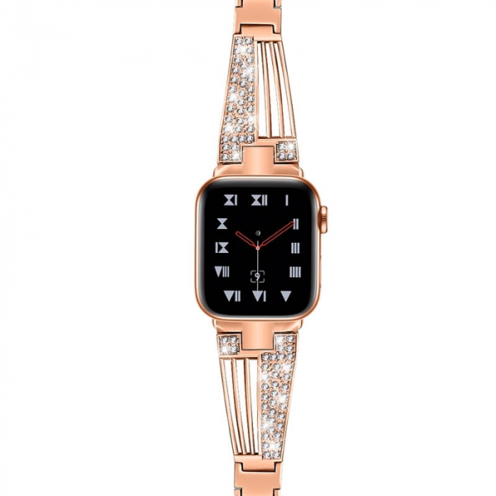 Bratara Otel Inoxidabil Roz Apple Watch Luxury 38/40mm [1]