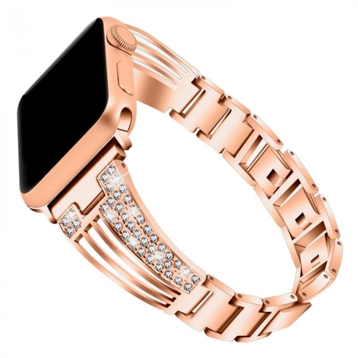 Bratara Otel Inoxidabil Roz Apple Watch Luxury 38/40mm [0]
