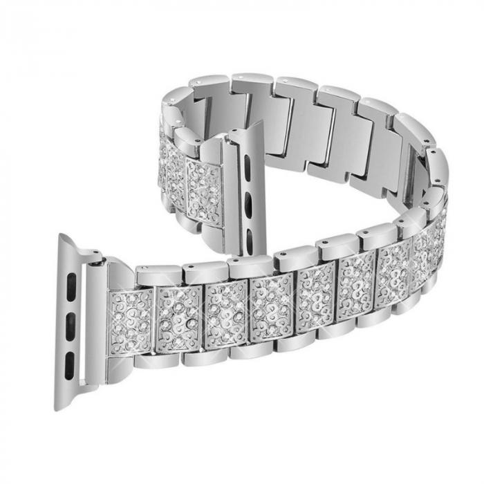Bratara Apple Watch Metalica Luxury Link Argintie 38/40mm [2]