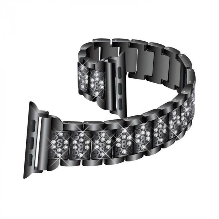 Bratara Apple Watch Metalica Luxury Link Neagra 38/40mm [2]
