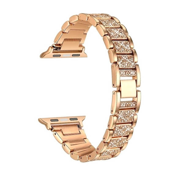 Bratara Apple Watch Metalica Luxury Link Rose Gold 38/40mm [0]