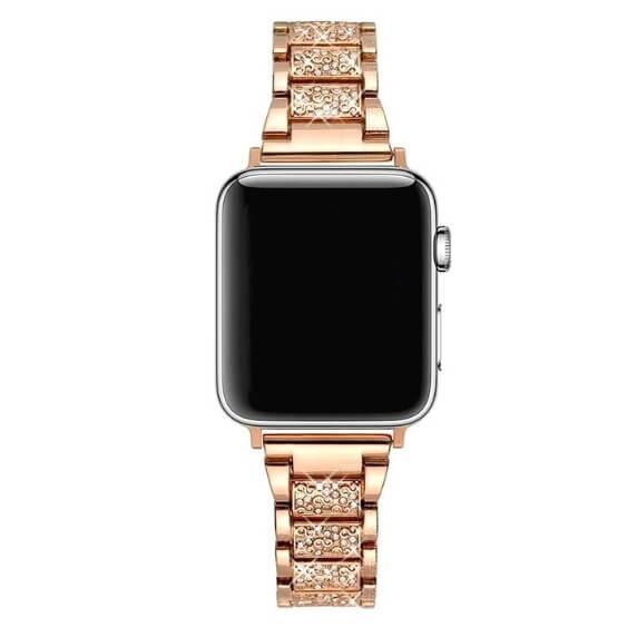 Bratara Apple Watch Metalica Luxury Link Rose Gold 38/40mm [1]