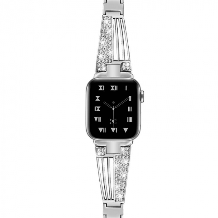 Bratara Apple Watch Luxury Stainless Steel Silver 38/40mm [1]