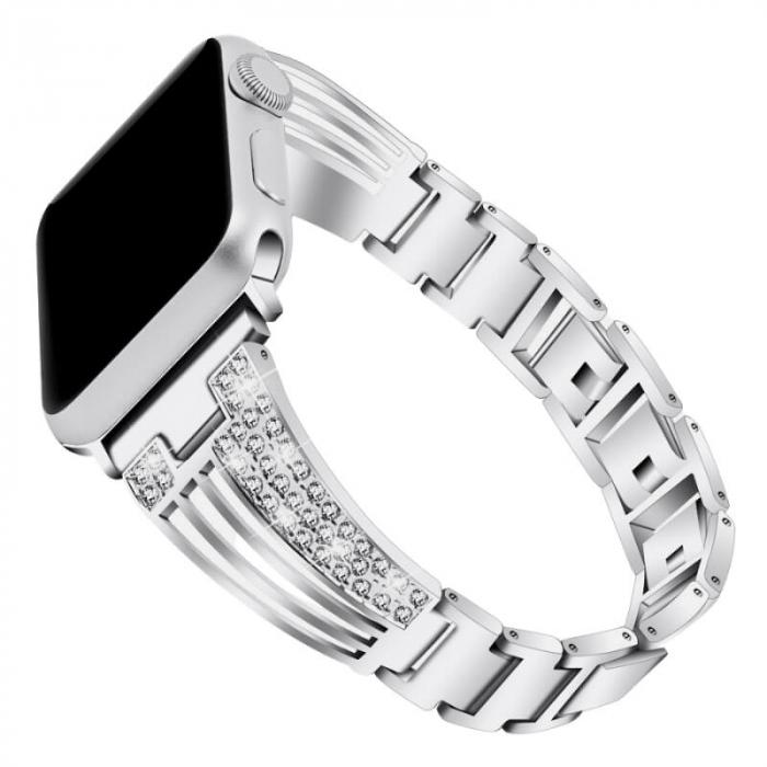 Bratara Apple Watch Luxury Stainless Steel Silver 38/40mm [0]