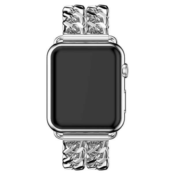 Bratara Apple Watch Metalica Denim Chain Argintie 38/40mm [3]