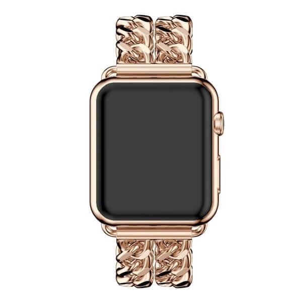 Bratara Apple Watch Metalica Denim Chain Gold Rose 38/40mm [3]