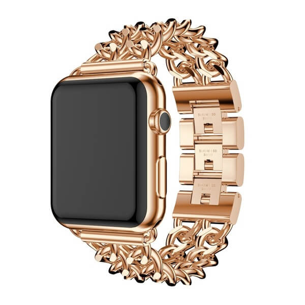 Bratara Apple Watch Metalica Denim Chain Gold Rose 38/40mm [2]