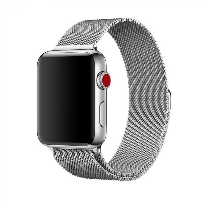 Bratara Curea Apple Watch Magnetica Metalica Milanese Loop argintie 38/40mm [4]