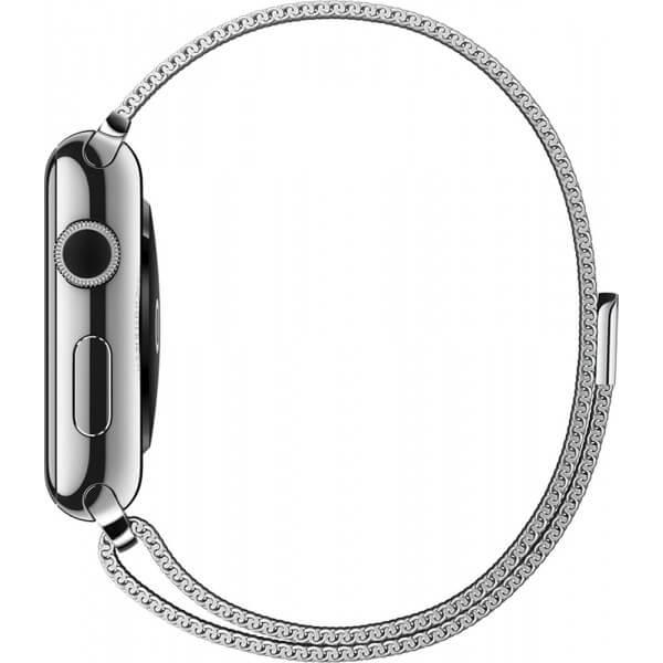 Bratara Curea Apple Watch Magnetica Metalica Milanese Loop argintie 38/40mm [3]