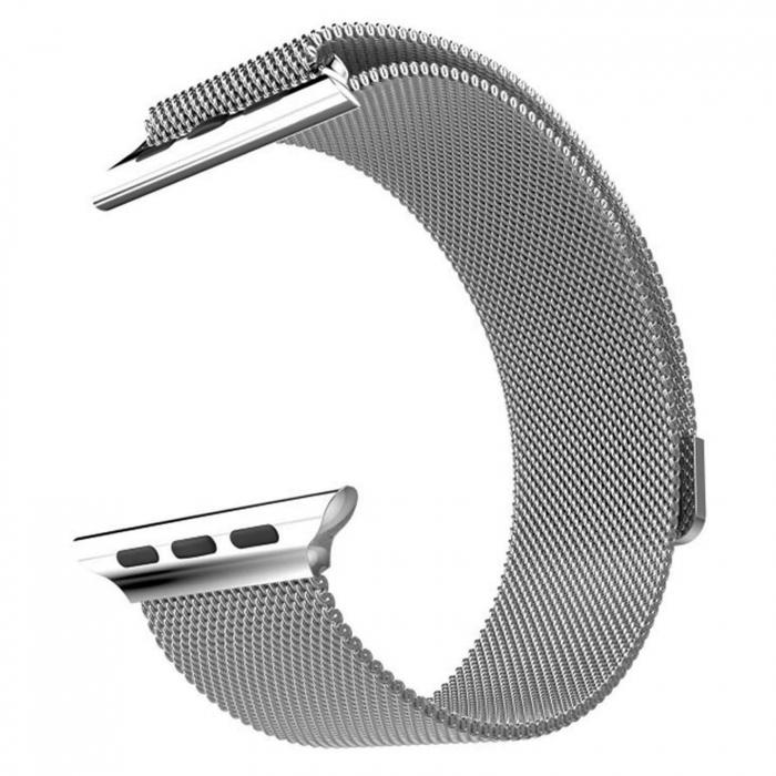Bratara Curea Apple Watch Metalica Magnetica Milanese Loop argintie 42/44mm [10]