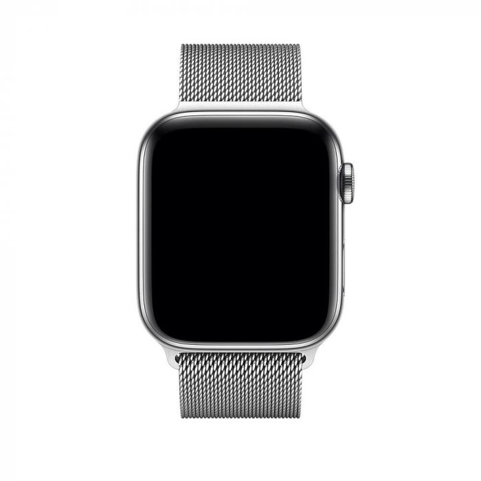 Bratara Curea Apple Watch Metalica Magnetica Milanese Loop argintie 42/44mm [2]