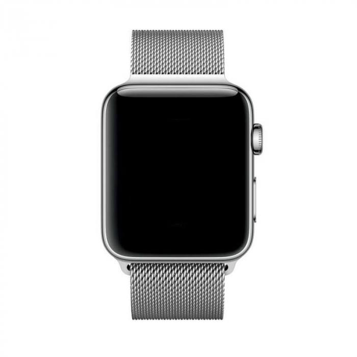 Bratara Curea Apple Watch Metalica Magnetica Milanese Loop argintie 42/44mm [5]