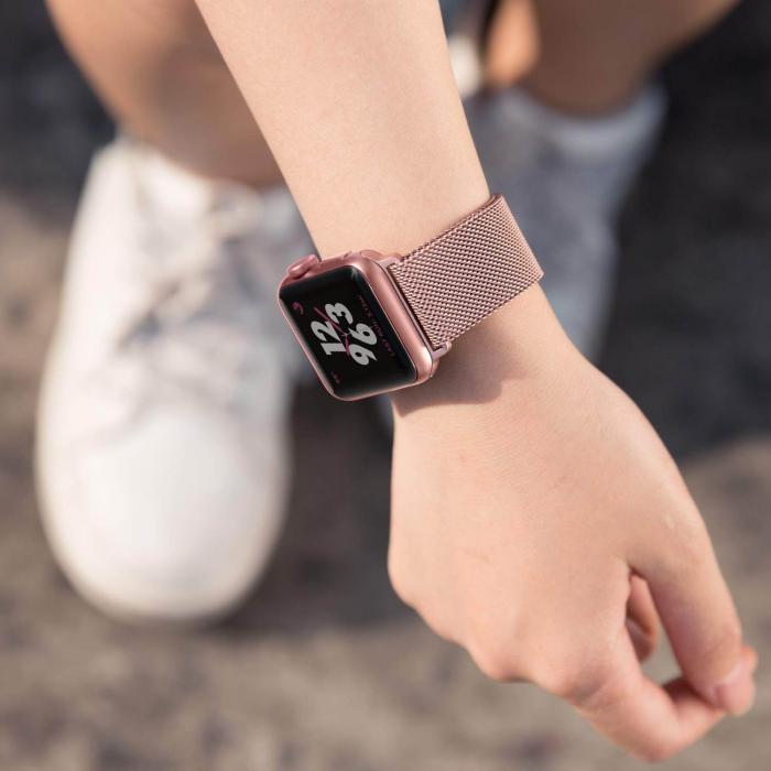Bratara Apple Watch Milanese Loop Rose / Roz 38/40mm [3]