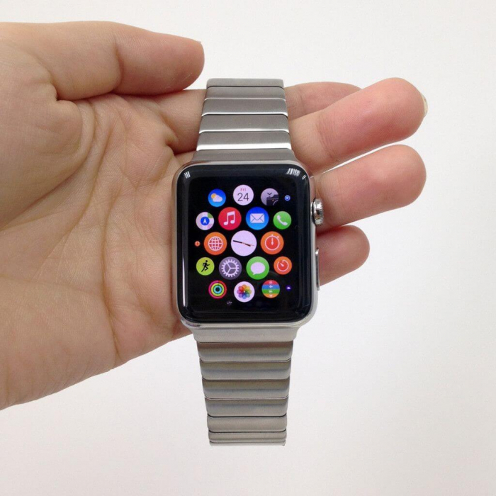 Bratara Apple Watch Metalica Silver Link 42/44mm [9]